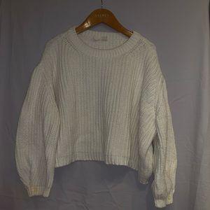 White feminine short sweater